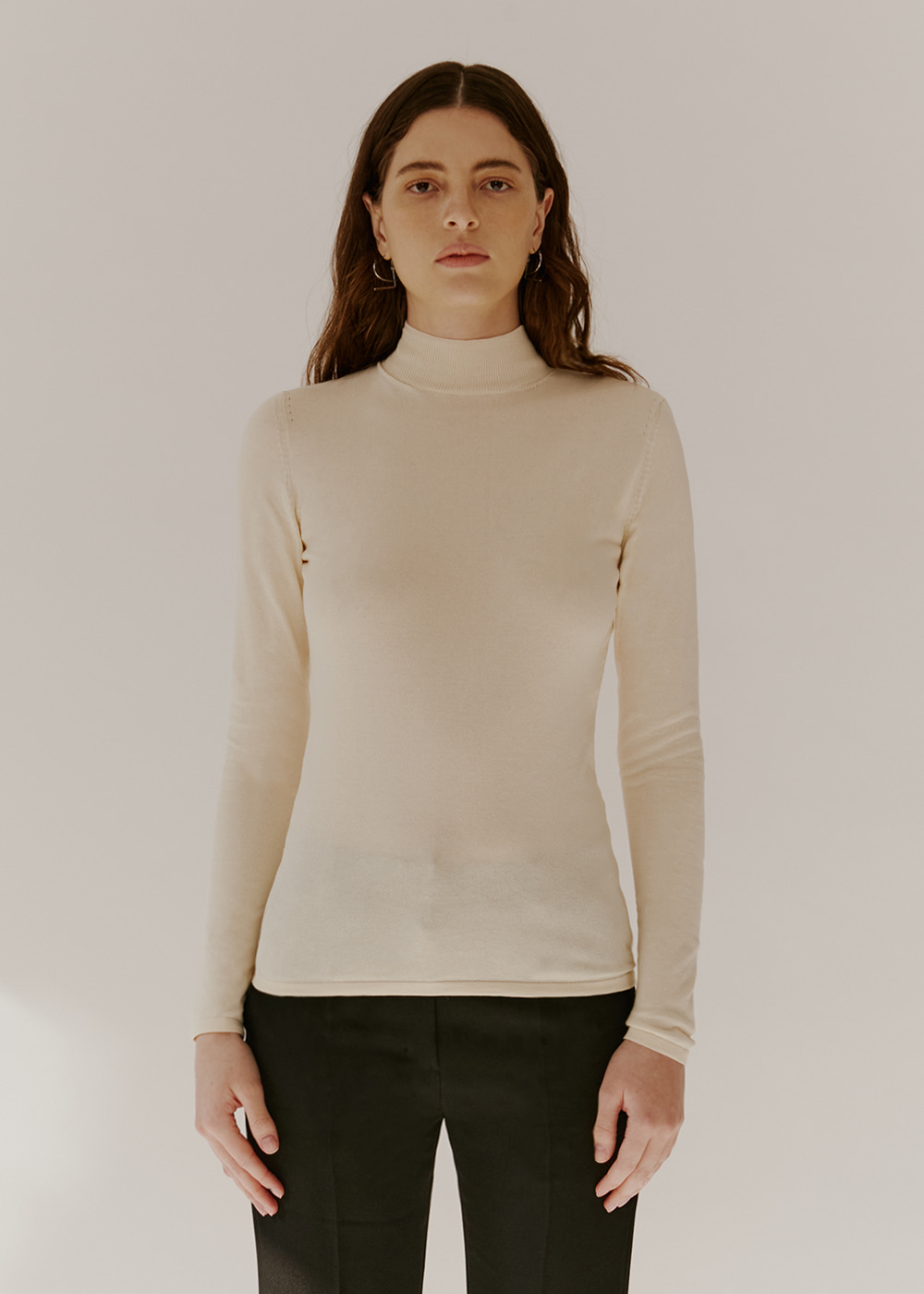 COTTON-BLEND KNIT - CREAM