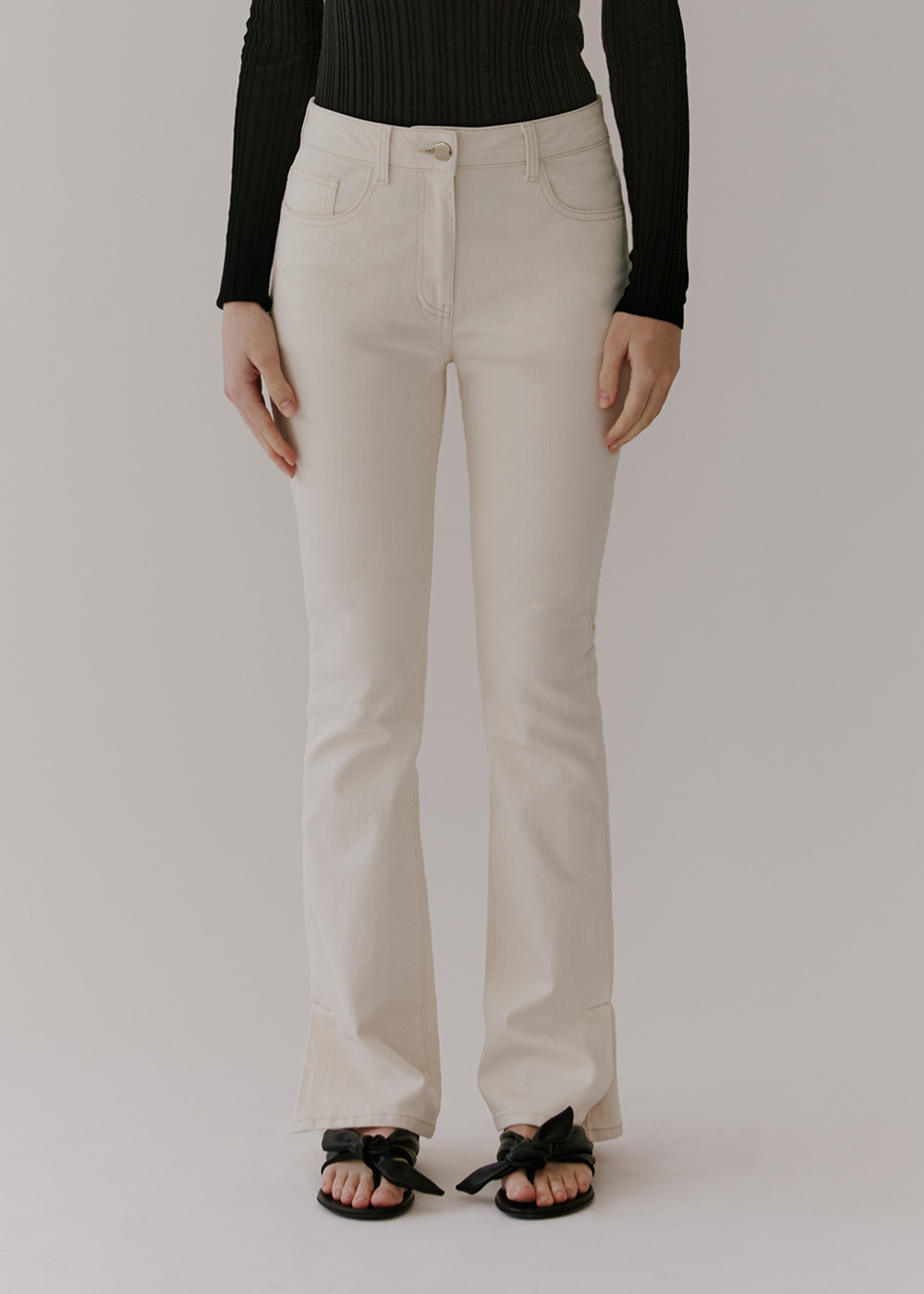 BOOTCUT DENIM - IVORY WHITE