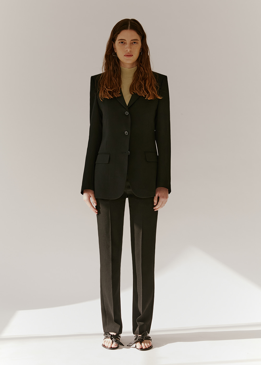 SINGLE-BREASTED SUIT JACKET - BLACK